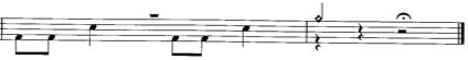 Le coup de cymbale à la fin du morceau Old Man de Neil Young (album : Harvest)